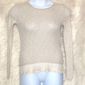 Hollister Sweater with lace trim